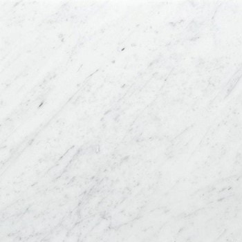 Polished Carara. Smooth, shiny finish. A light coloured Marble. Not as hard as Granite or Slate. Can stain quite easily.