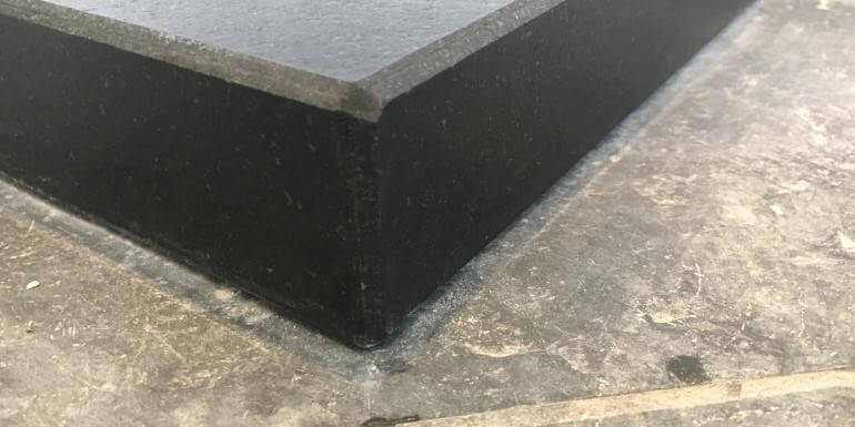 A Standard Hearth with square corners and bevelled edge