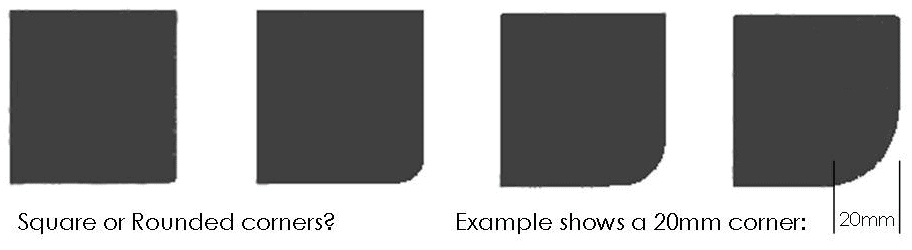 Hearths can be made to order in most shapes
