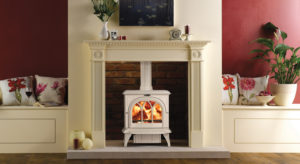 Stovax Huntingdon 30 Cast Iron Stove in Ivory Enamel